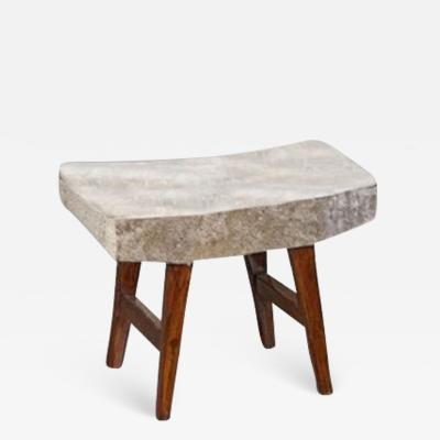 Pierre Jeanneret Upholstered Stool