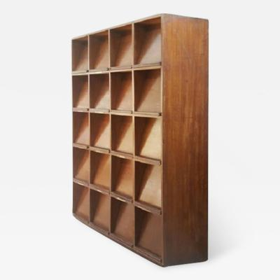 Pierre Jeanneret Very rare Bookcase for periodicals with 20 identical compartments