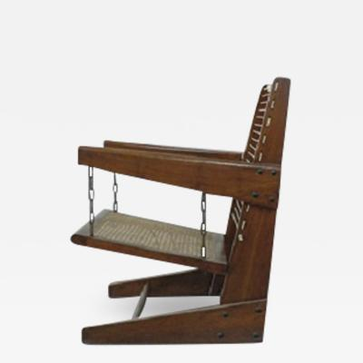 Pierre Jeanneret Very rare square with hanging seat ca 1953