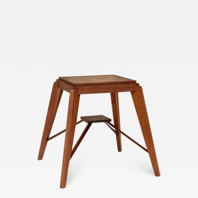 Pierre Jeanneret Wood Stool Attributed to Pierre Jeanneret