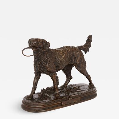 Pierre Jules Mene Antique bronze dog figure by Pierre Jules Mene