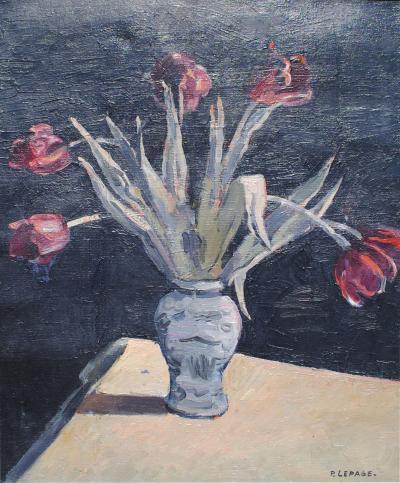 Pierre Le Page Orientalist Still Life Tulips
