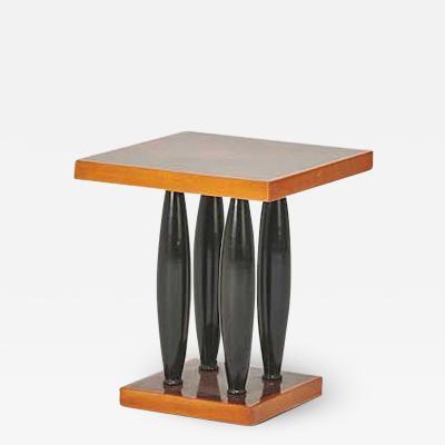 Pierre LeGrain WALNUT AND EBONIZED BEACH WOOD ART DECO PERIOD SIDE TABLE