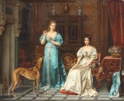 Pierre Paul Emmanuel de Pommayrac a French Oil Painting