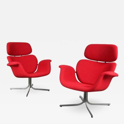 Pierre Paulin 1950s Pierre Paulin Big Tulip Lounge Chairs