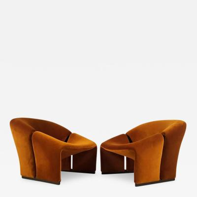 Pierre Paulin Early Pair of French Lounge Chairs by Pierre Paulin for Artifort