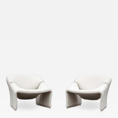 Pierre Paulin Early Pair of French Model F580 Lounge Chairs by Pierre Paulin for Artifort