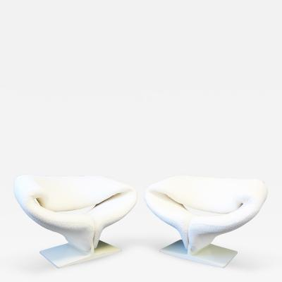 Pierre Paulin Mid Century Modern Pair Original Pierre Paulin Ribbon Chairs By Artifort France