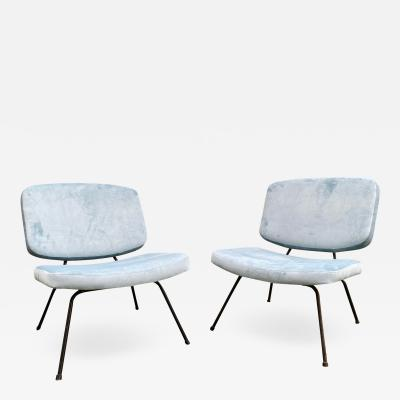 Pierre Paulin Pair of CM190 slipper chairs for Thonet
