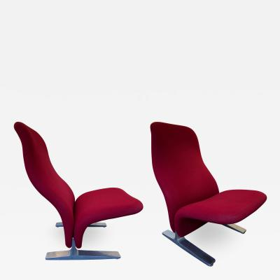 Pierre Paulin Pair of Concorde Armchairs by Pierre Paulin for Artifort Netherland 1960s