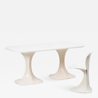 Pierre Paulin Pierre Paulin 8810 Flower chair table Boro Belgium 1970s
