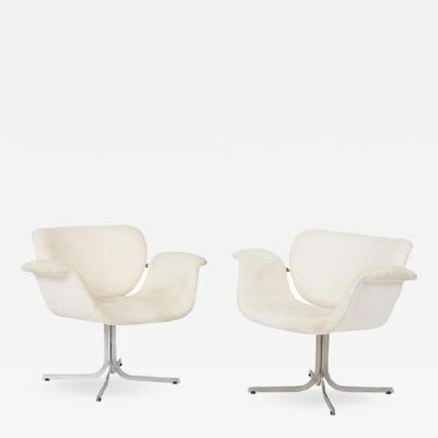 Pierre Paulin Pierre Paulin Big Tulip Lounge Chairs 1960s