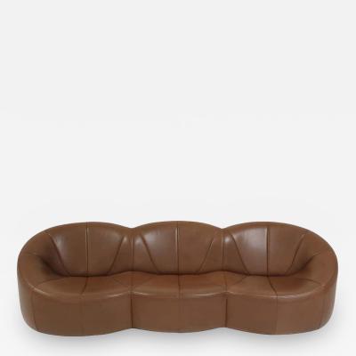 Pierre Paulin Pierre Paulin Leather Pumpkin Sofa