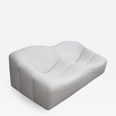Pierre Paulin Pierre Paulin for Artifort ABCD Settee in White Italian Boucle