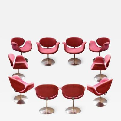Pierre Paulin Set of ten Little Tulip armchairs by Pierre Paulin 163 model circa 1965