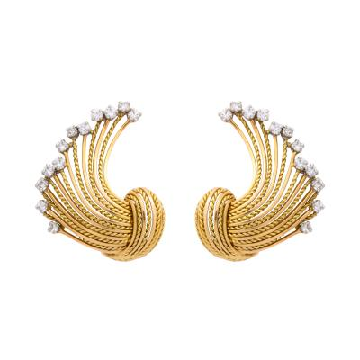 Pierre Sterl Diamond 18k Gold Earrings by Sterle