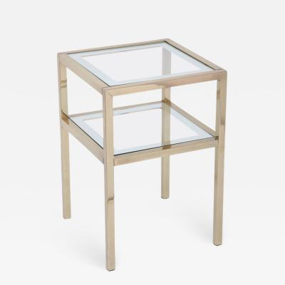 Pierre Vandel Midcentury Pierre Vandel Polished Brass and Glass Table