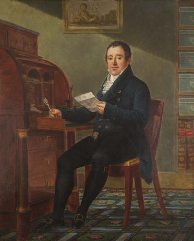 Pierre van Huffel Portrait of Amand De Leu By Pierre Van Huffel 1769 1844