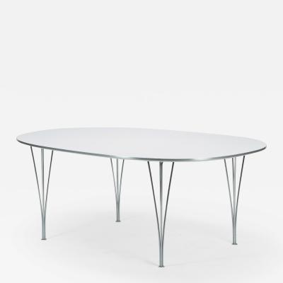 Piet Hein Bruno Mathsson Piet Hein Bruno Mathsson Superellipse dining table white