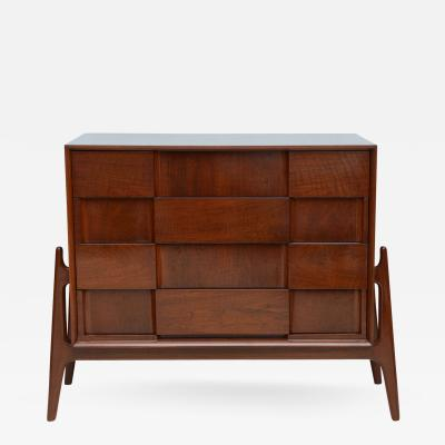 Piet Hein Danish Modern Mahogany Four Drawer Chest by Piet Hein