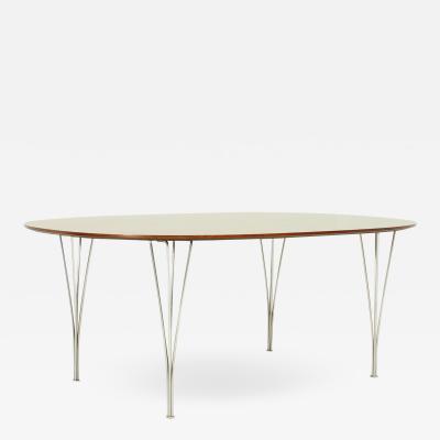 Piet Hein Super Elliptical Dining Table by Piet Hein Bruno Mathsson and Arne Jacobsen