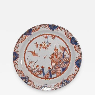 Pieter Adriaenson Kocks A Tin Glazed Earthenware Plate with Imari Decoration