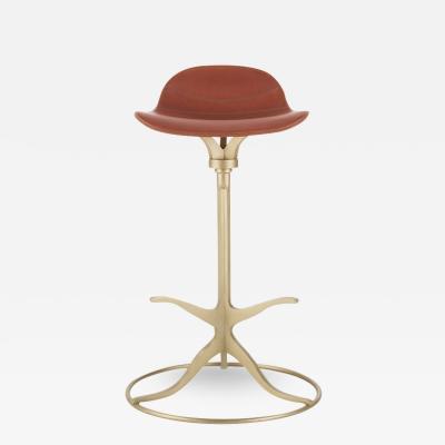 Pieter Compernol Stephanie Grusenmeyer Florian Gypser Bespoke High Bar Leather Chair in Vieux Rose by P Tendercool