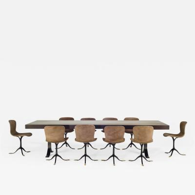 Pieter Compernol Stephanie Grusenmeyer Florian Gypser Collection of Ten Brass and Leather Chairs Made to Order by P Tendercool