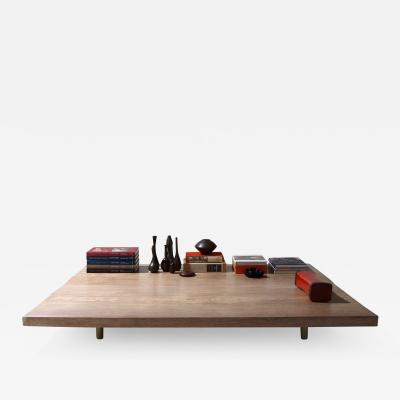 Pieter Compernol and Stephanie Grusenmeyer Bespoke Coffee Table Two Rare Slabs of Antique Hardwood by P Tendercool