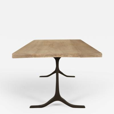 Pieter Compernol and Stephanie Grusenmeyer Bleached Reclaimed Hardwood Table with Sand Cast Brass by P Tendercool