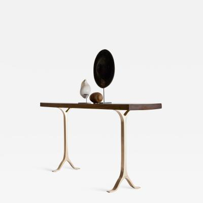 Pieter Compernol and Stephanie Grusenmeyer French Polished Console Antique Hardwood Bronze Base P Tendercool In stock