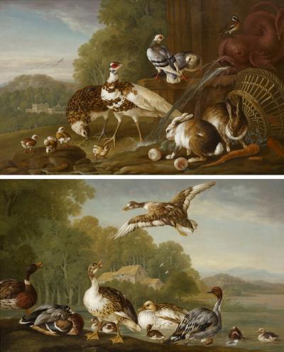 Pieter Frans Casteels A Pair of Paintings