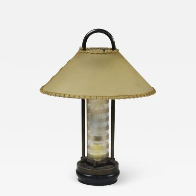 Pietro Chiesa 20th Century Pietro Chiesa Table Lamp for Fontana Arte in Metal and Crystal