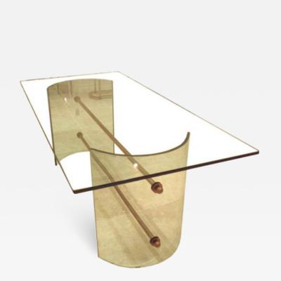 Pietro Chiesa An All Crystal Dining Table by Pietro Chiesa for Fontana Arte
