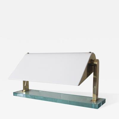 Pietro Chiesa Brass and Glass Table Lamp