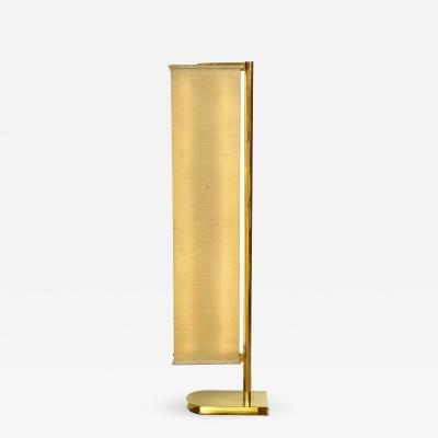 Pietro Chiesa Floor lamp with linen suspended panels by Pietro Chiesa for Fontana Arte