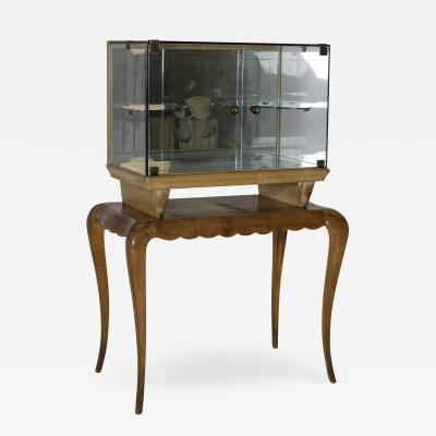 Pietro Chiesa Italian Bar cabinet attributed to Pietro Chiesa for Fontana Arte 1950s