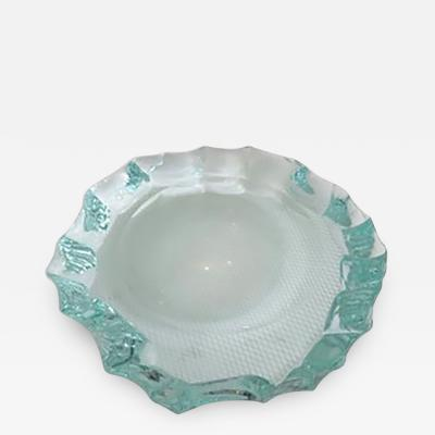 Pietro Chiesa Italian Glass Dish or Vide Poche by Pietro Chiesa for Fontana Arte