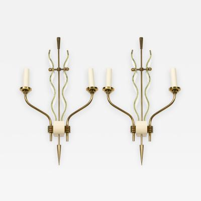 Pietro Chiesa Pair of 1950s Italian sconces by Pietro Chiesa