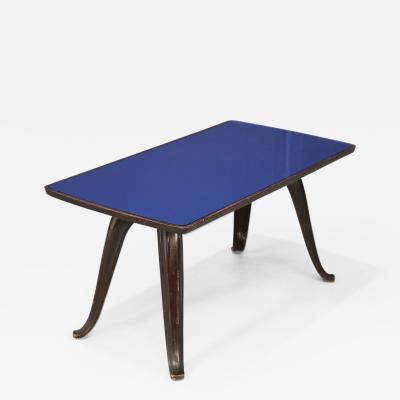 Pietro Chiesa Pietro Chiesa MidCentury Coffee Table glass blue 1950s