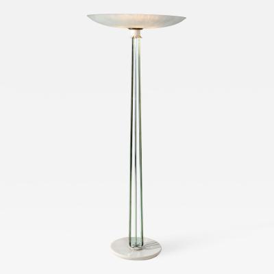 Pietro Chiesa Pietro Chiesa for Fontana Arte MidCentury white and crystal Floor Lamp 1930s