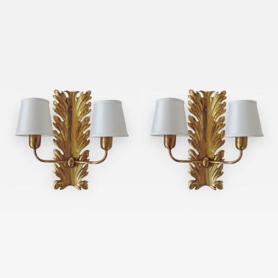 Pietro Chiesa Spledid Pietro Chiesa wall lamps for Fontana Arte Italy 1940s