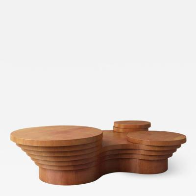 Pietro Franceschini Wood Slice Me Up Sculptural Coffee Table by Pietro Franceschini