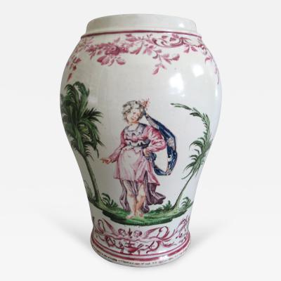 Pietro Leidi Sasuolo A Ceramic Vase with Polychrome Decoration Attributed to Pietro Leidi Sasuolo