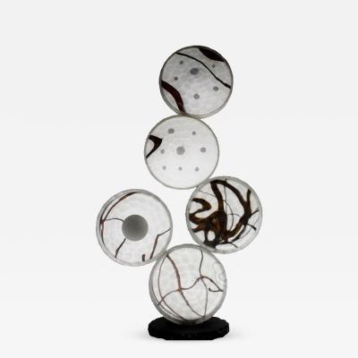 Pietro Riccardo Ferro Murano Glass Totem