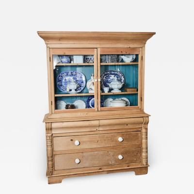 Pine Cabinet w blue interior