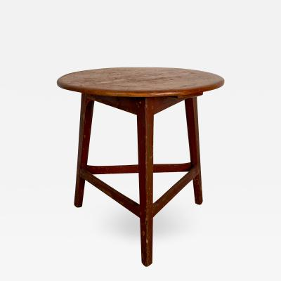 Pine and Painted Cricket Table England Circa 1840