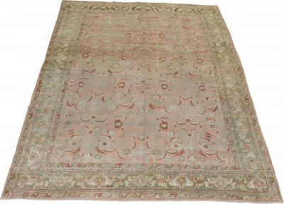 Pink Deer Border Persian Bidjar Rug rug no j1667