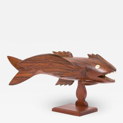Pitcairn Island Mutiny on the Bounty Hand Carved Flying Fish