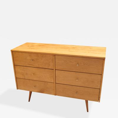 Planner Group Six Drawer Maple Dresser by Paul Mccobb